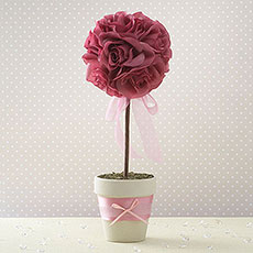 Fabric Topiary Tree Table Decoration