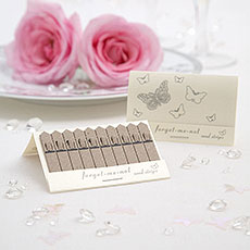 Pearl Pink or White Butterfly Seed Favors Pack