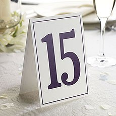 Elegant Border Wedding Table Numbers 1-15