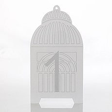 Birdcage Table Number Card 1-10