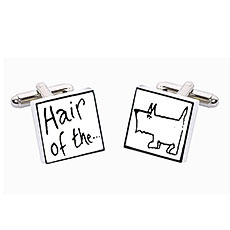 Hair of the Dog Ceramic Cufflinks