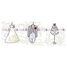 Mr & Mrs Picture Trifold Card