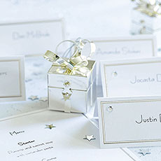 Foil Border Printable Wedding Place Cards Pack