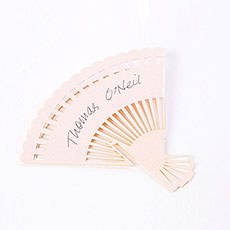 Pearl Fan Wedding Place Card For Glasses Pack