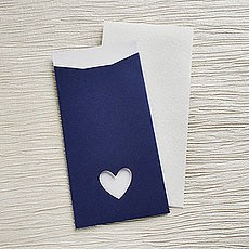Navy Eco Chic DIY Large Wallet Invitation Kit - 10 Pack