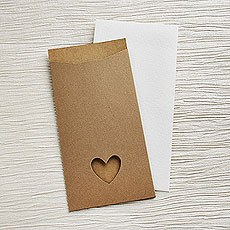 Brown Eco Chic DIY Large Wallet Invitation Kit - 10 Pack