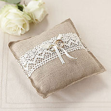 Hessian Ring Cushion