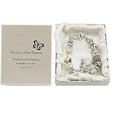 Amore Silver and Gold Bead Charm Bracelet - Mother of the Groom