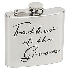 Amore 5oz Stainless Steel Hip Flask - Father of the Groom