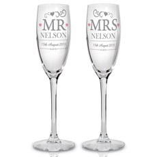 Mr & Mrs Personalized Flutes