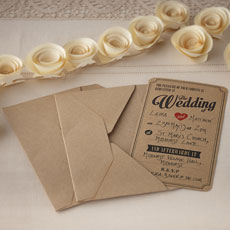 Vintage Affair - Wedding Invitations - 10 Pack