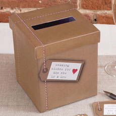 Just My Type Kraft Wedding Wishes Post Box
