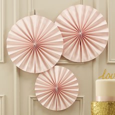 Pastel Pink Circle Fan Decorations