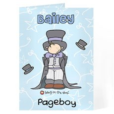 Personalized Page Boy Wedding Card