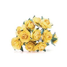Yellow Tea Roses - 24 Pack