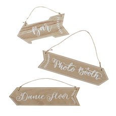 Wooden Arrow Sign Set