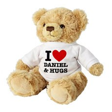 Personalized I Love Heart Teddy