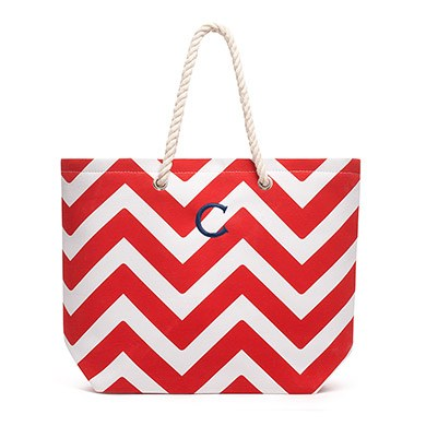 Extra Large Cabana Tote Red