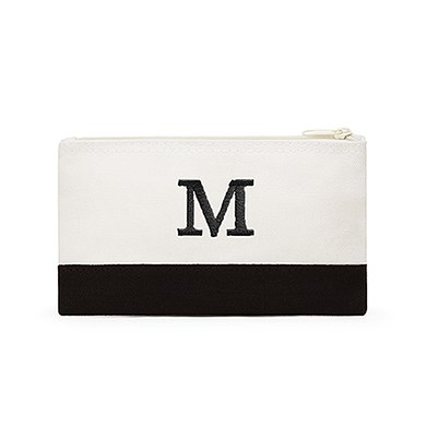 Colorblock Cosmetic Bag Black