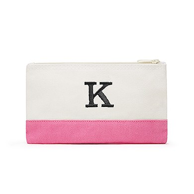 Colorblock Cosmetic Bag Hot Pink