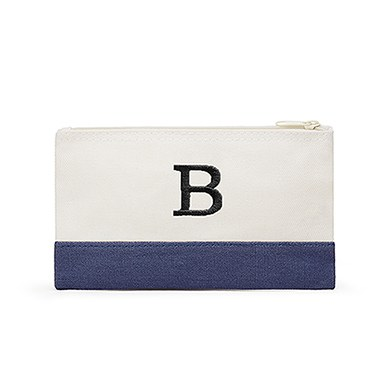 Colorblock Cosmetic Bag Denim