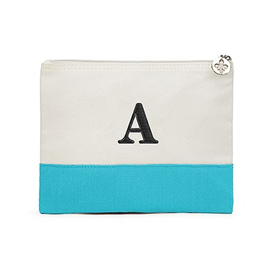 Colorblock Large Zip Pouch Robin's Egg