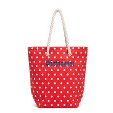 Polka Dot Cabana Tote - Red