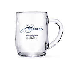 Glass Mug 10 oz - Printed