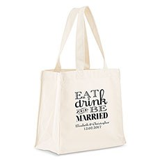 Eat, Drink And Be Married Personalized Tote Bag