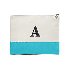 Colorblock Large Zip Pouch - Robin's Egg