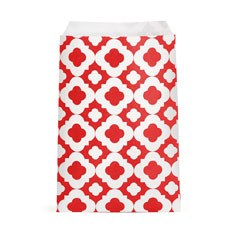 Mod Print Favor Bags - Red