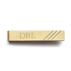 """Best Day Ever"" Brass Tie Clip"