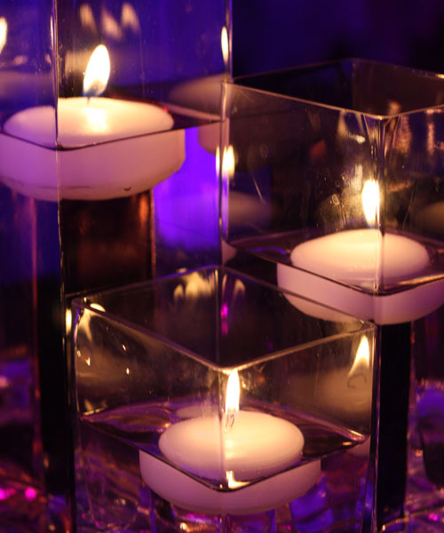 Floating Candle Centerpiece Ideas: 24 Floating Candles Wedding Table Reception Centerpiece
