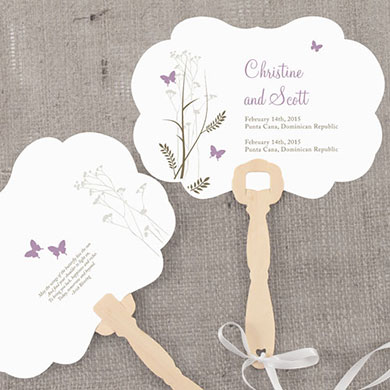 Romantic Butterfly Hand Fan Wedding Favor