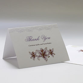 Lily Wedding Thank You Card