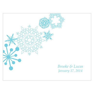 Winter Finery Wedding Note Card