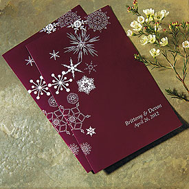Winter Finery Wedding Bulletin