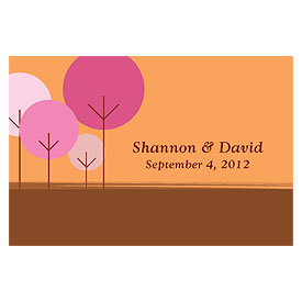 round tree large rectangular wedding tag stationery