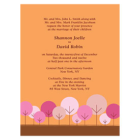 round tree wedding invitation stationery