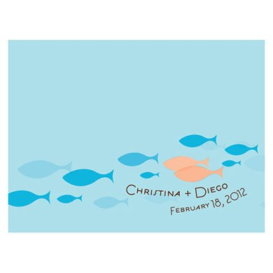 Of All The Fish In The Sea Wedding Note Card