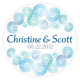 Sea Breeze Large wedding favor Sticker