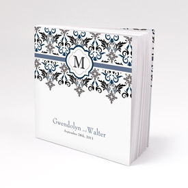 Lavish Monogram Personalized Book Style Wedding Favor Notepad