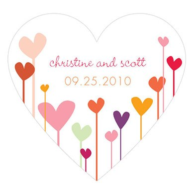 Hearts Heart Shaped Wedding Sticker