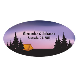 Camping Large Wedding Window Cling
