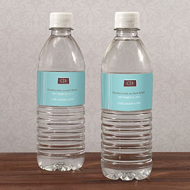 Modern Medley Wedding Water Bottle Label