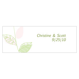 Green Organic Small Rectangular Favor Tags