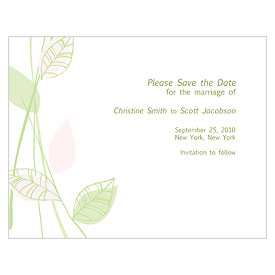 Green Organic Save The Date
