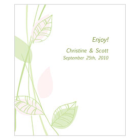 Green Organic Rectangular Wedding Labels