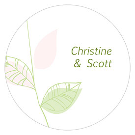 Green Organic Large Wedding Stickers