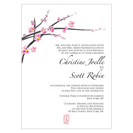 Cherry Blossom Wedding Invitation Stationery